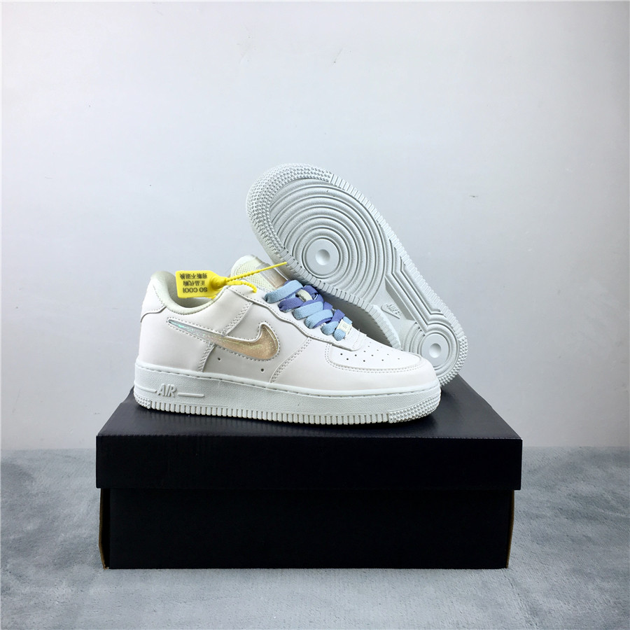 Nike Air Force 1 WMNS White Baby Blue Shoes