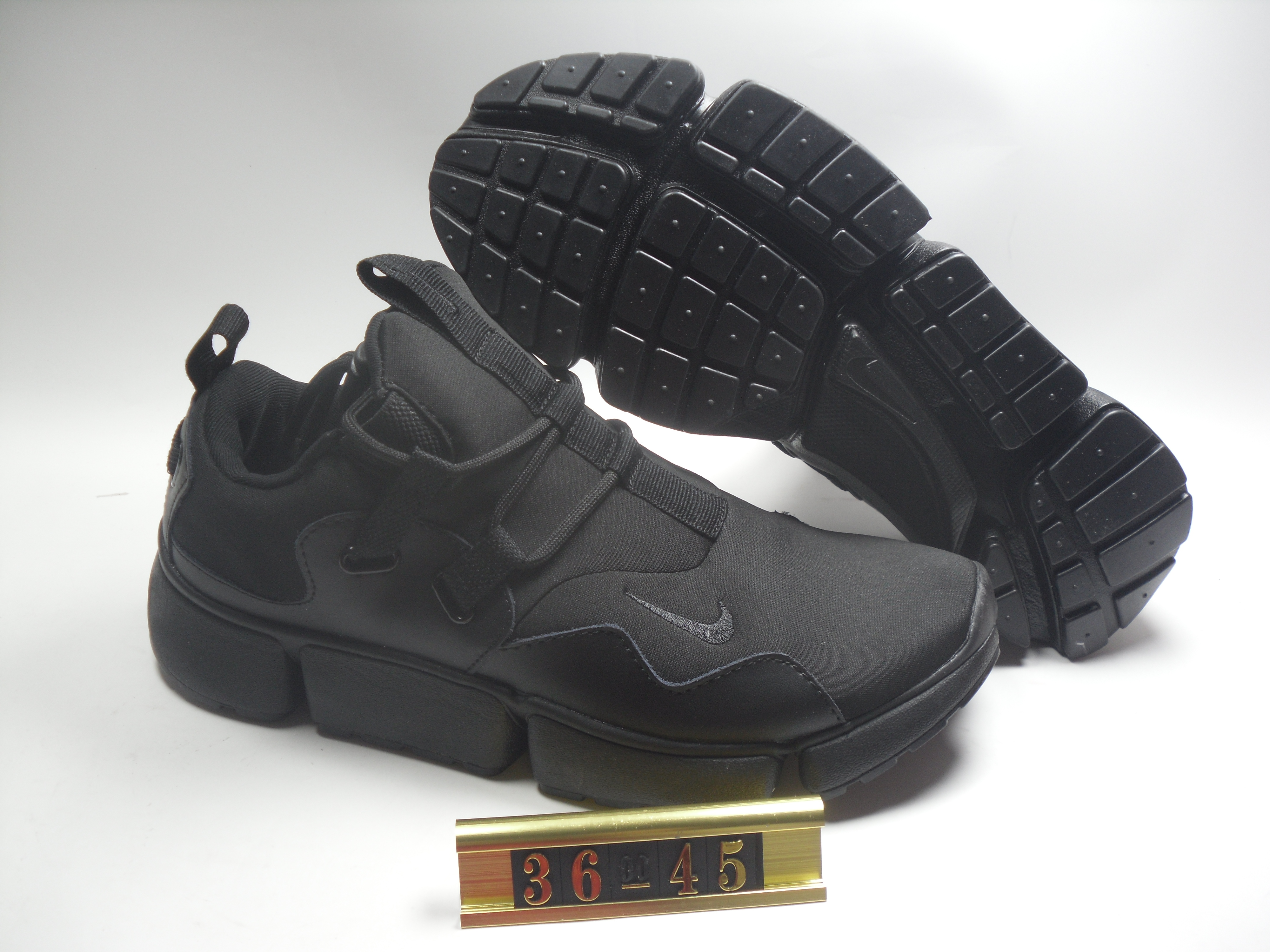 Women Nike Air Huarache 5 All Black Shoes