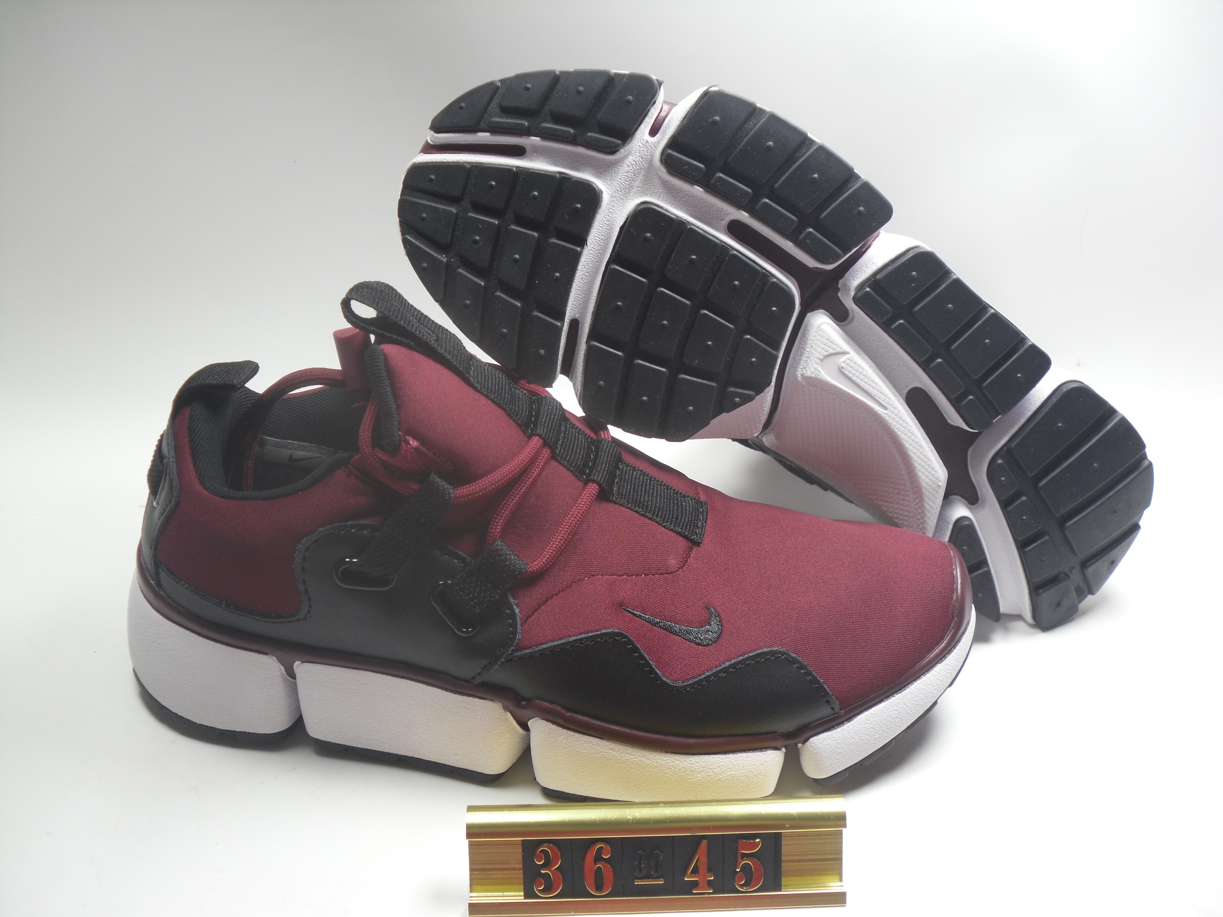 Women Nike Air Huarache 5 Wine Red Black Shoes
