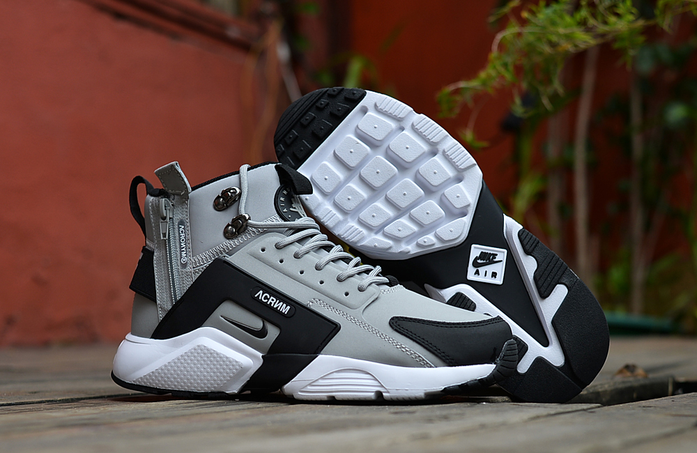 Nike Air Huarache X Acronym City MID Leather Grey Black Shoes