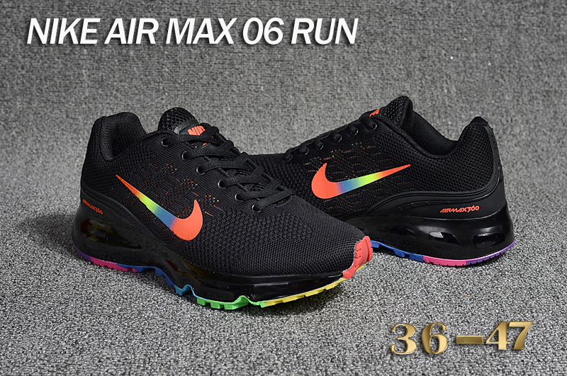 Nike Air Max 06 Run Black Red Colorful Shoes
