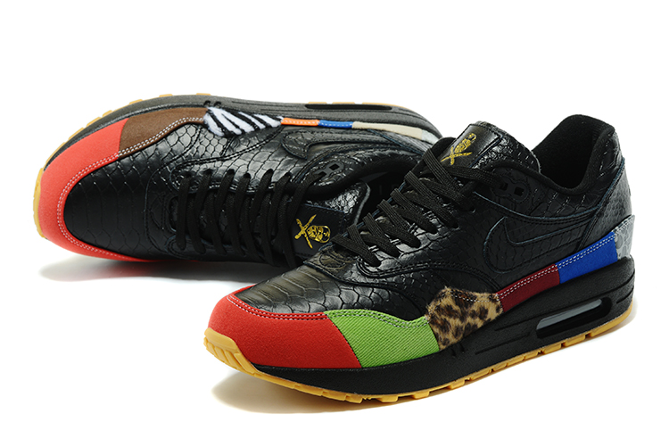 Nike Air Max 1 Air Max Day Black Yellow Red Shoes For Women