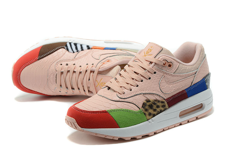 check out 2aaba e464c Nike Air Max 1 Air Max Day Pink Yellow Red Shoes For Women