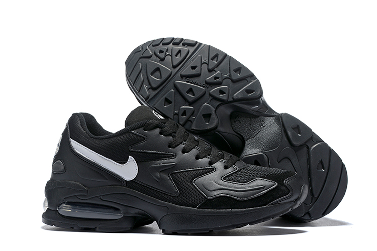Nike Air Max 2 All Black Grey Swoosh Shoes