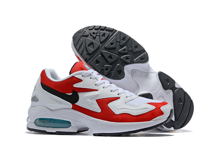 Nike Air Max 2 White Red Black Shoes