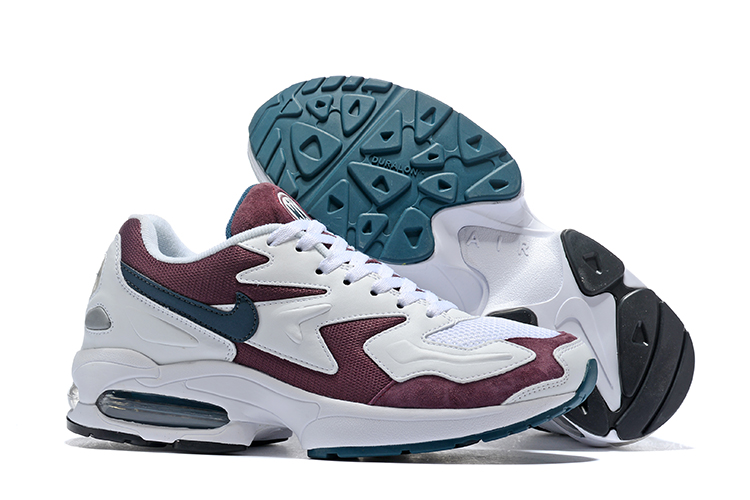 Nike Air Max 2 White Wine Red Jade Shoes