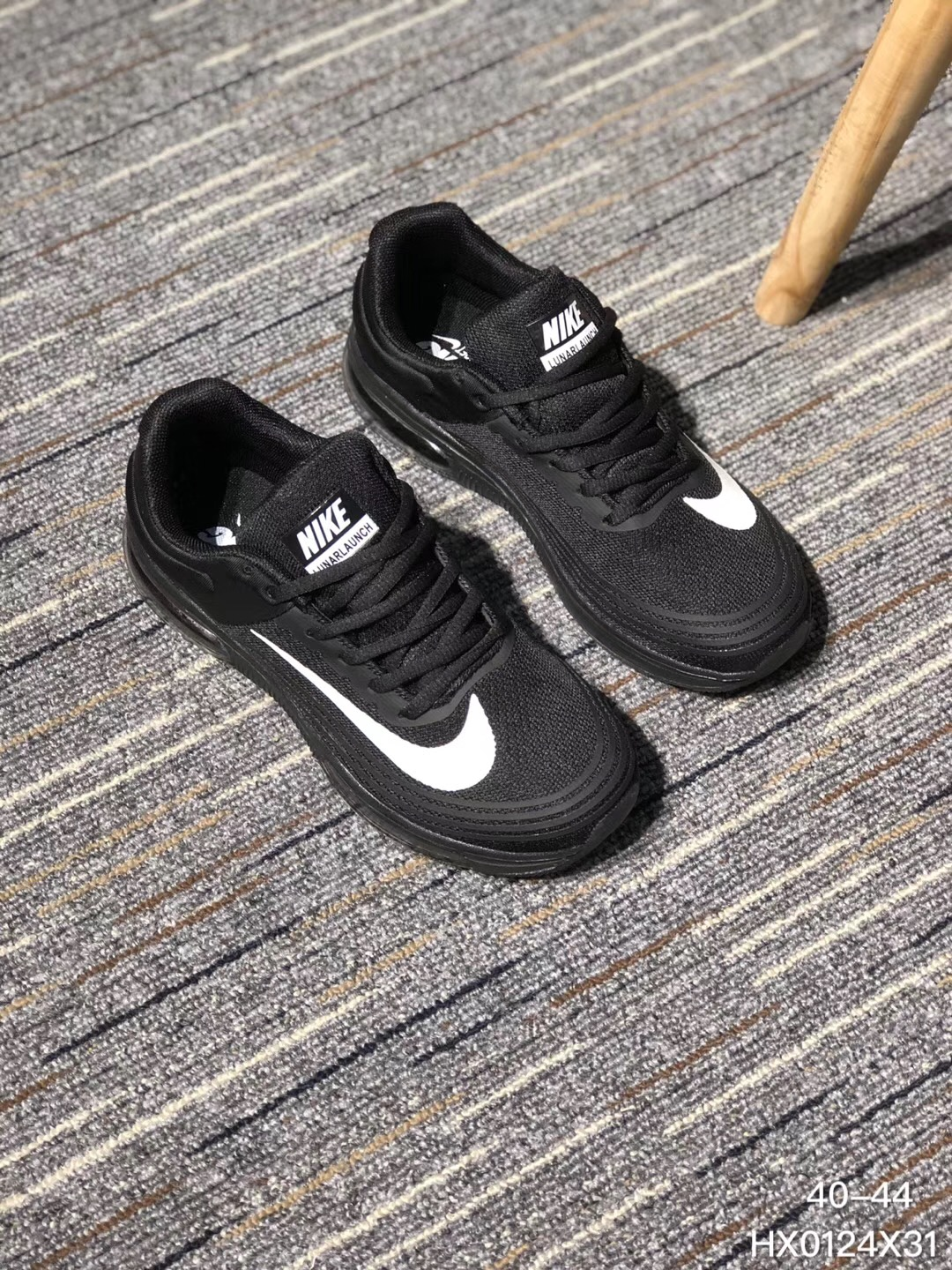 Nike Air Max 2018 Flyknit Black White Running Shoes
