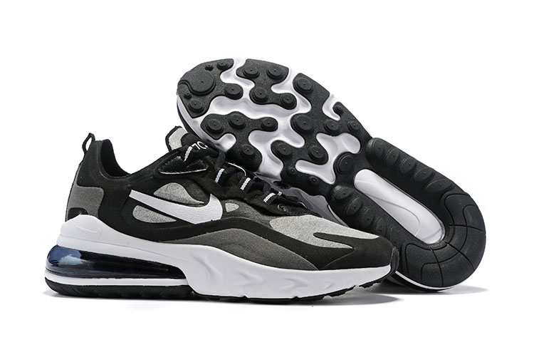Nike Air Max 270 React Black Grey White Shoes
