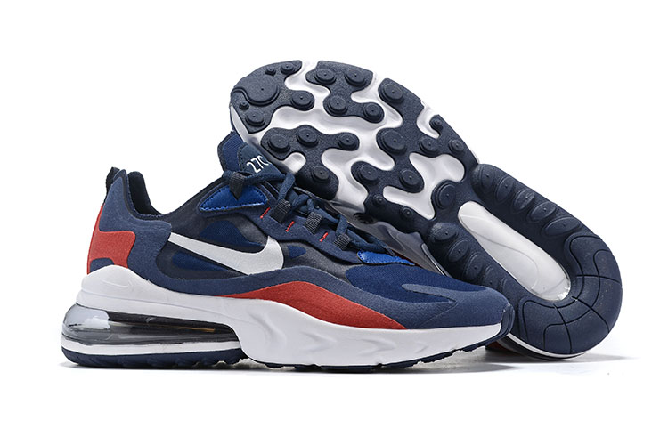 Nike Air Max 270 React Blue Red White Shoes