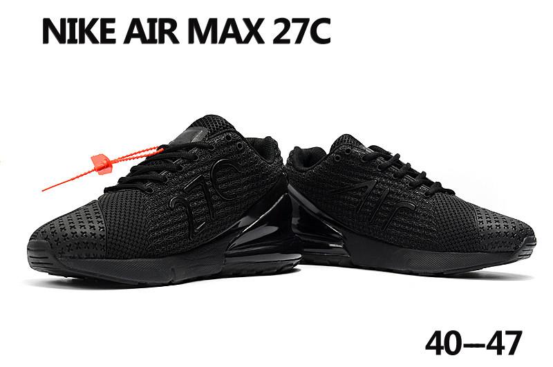 Patriótico pálido Excavación  Nike Air Max 27C All Black Shoes [18running10621] - $82.00 : Real Nike  Running Shoes, Nike Running Shoes