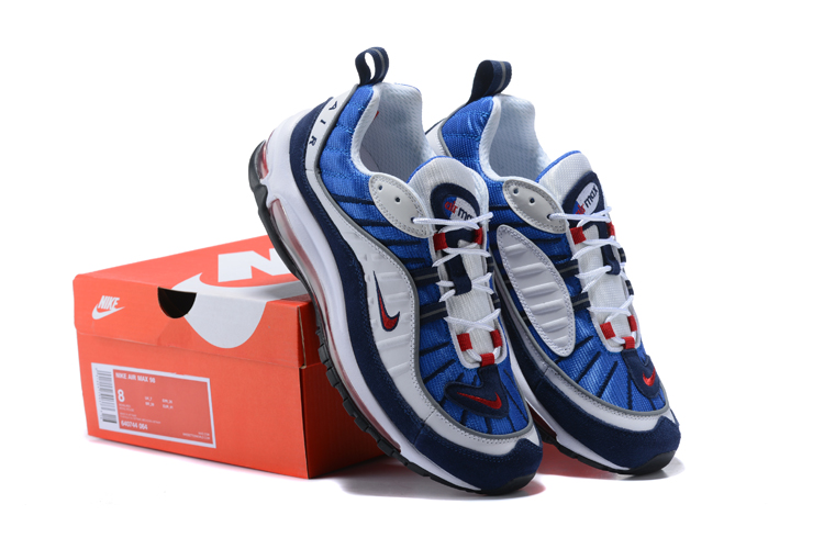 Nike Air Max 98 20th Blue White Black Red Shoes