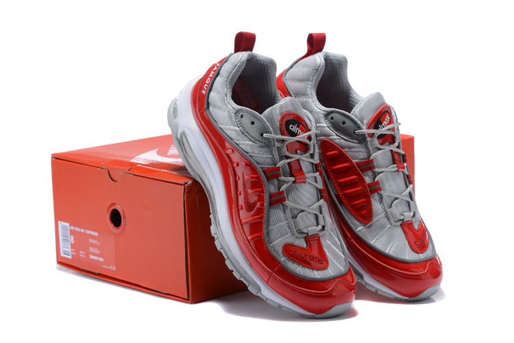 Nike Air Max 98 20th Silver Red Shoes