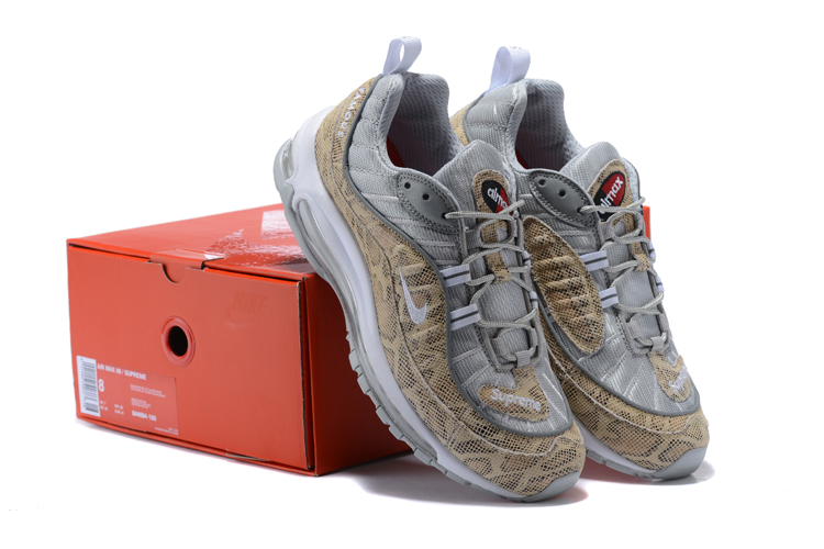Nike Air Max 98 20th Silver Yellow Shoes
