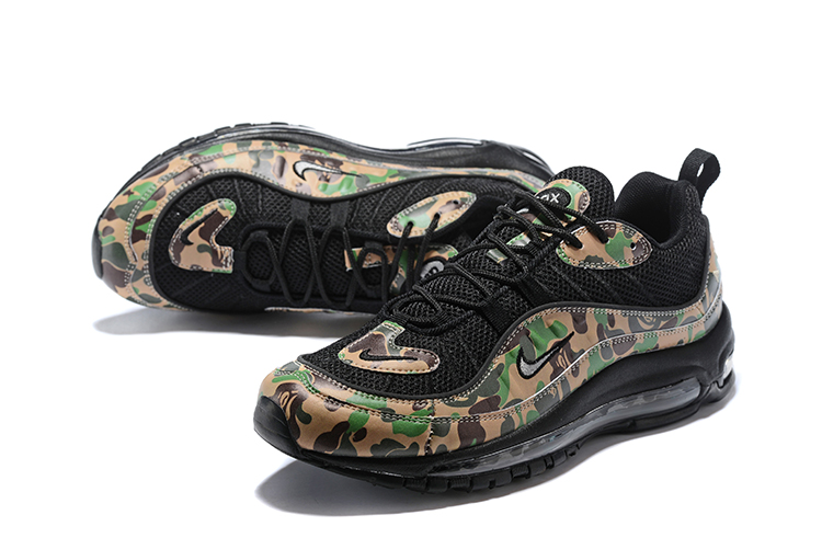 Nike Air Max 98 Flyknit Black Army Green Shoes