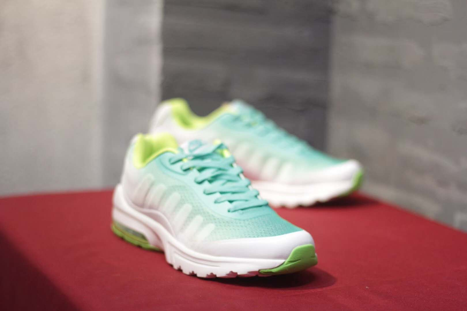 af178049fa ... shopping women nike air max invigor print 95 gint green white shoes  9f150 f35a9 ...