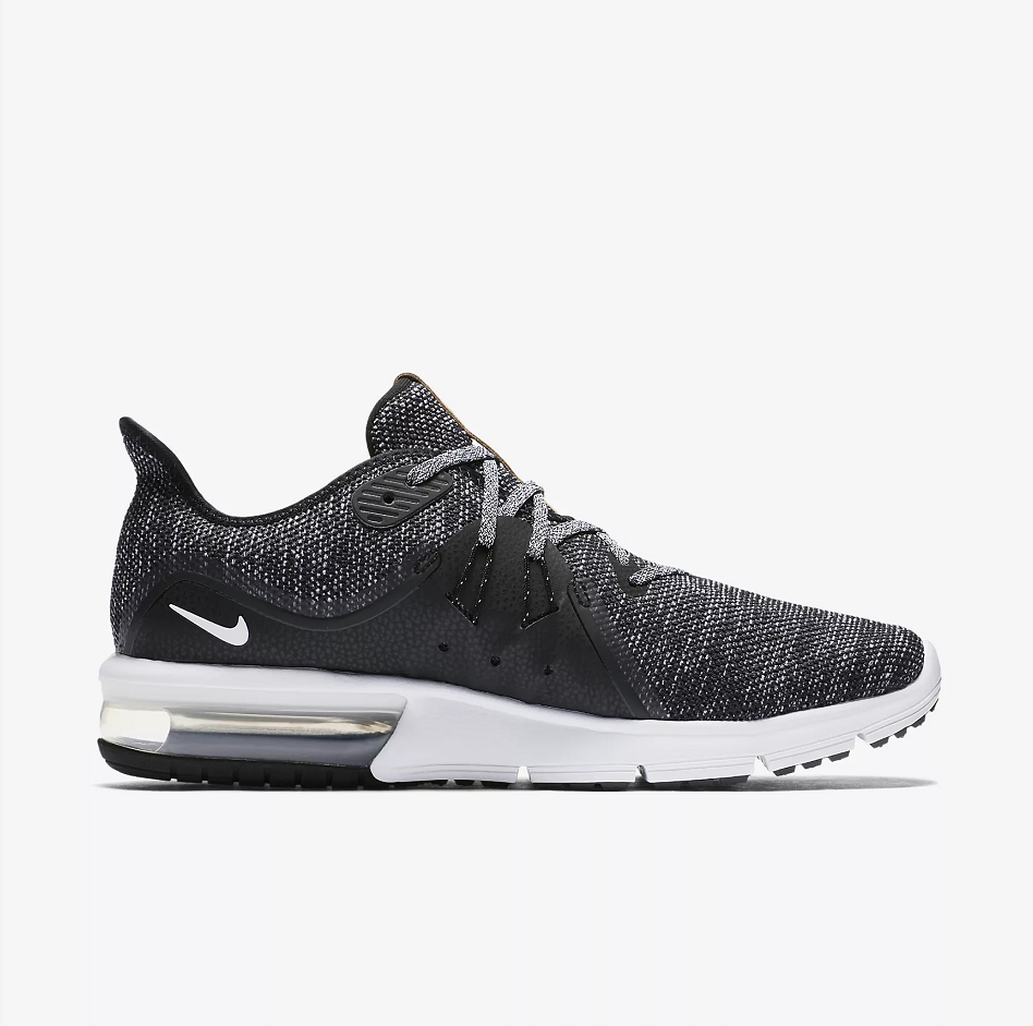 Nike Air Max Sequent 3 Grey Black White Shoes