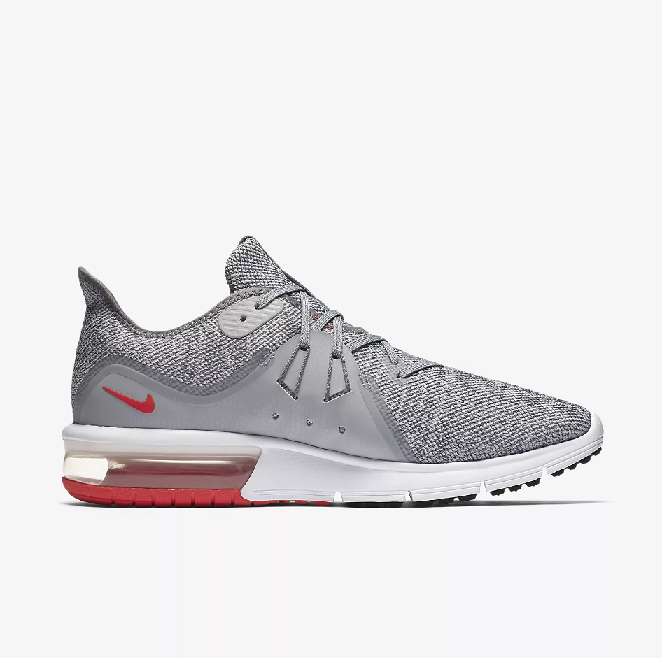 Nike Air Max Sequent 3 Grey Red White Shoes