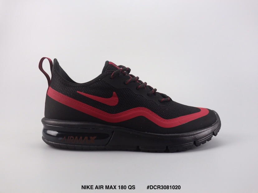 8622786103a Nike Air Max VaporMax 93c Flyknit Black Red Shoes