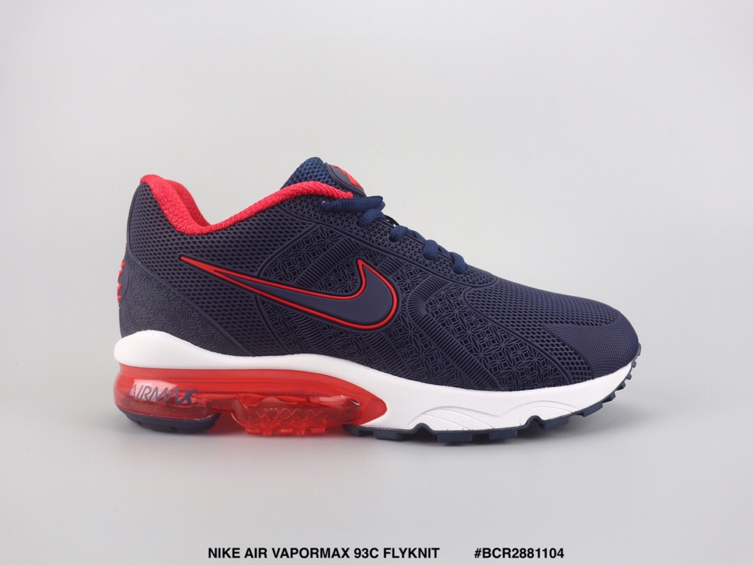 Nike Air Max VaporMax 93c Flyknit Blue Red White Shoes