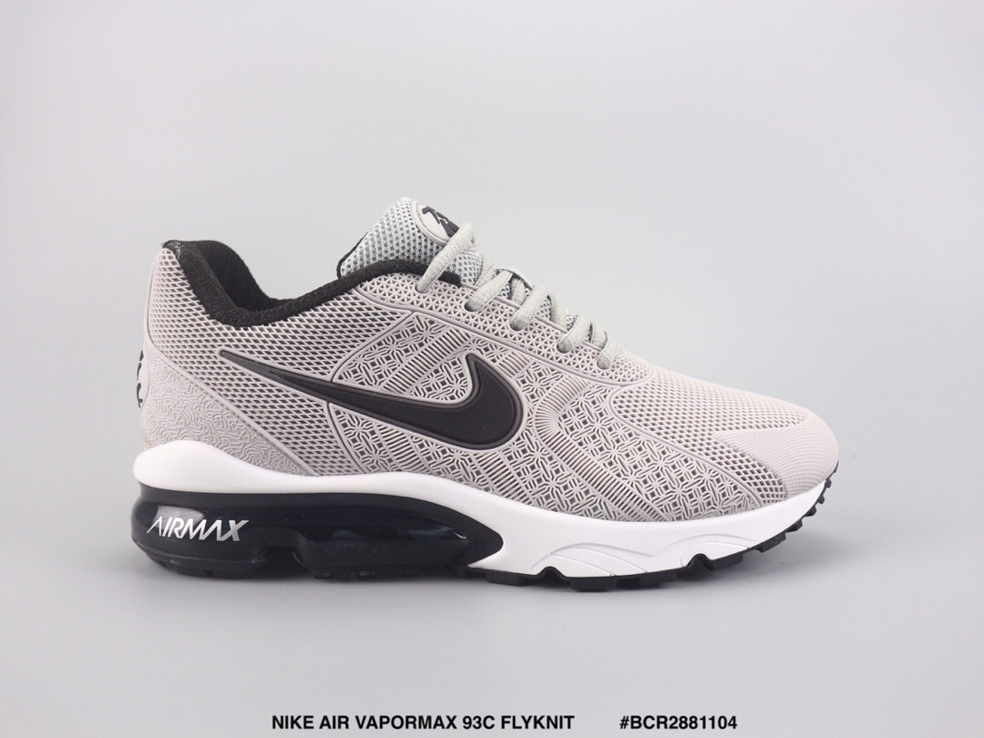 Nike Air Max VaporMax 93c Flyknit Grey Black White Shoes