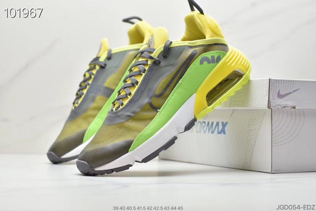 Nike Air Max Vapormax 2090 Flyknit Grey Yellow Green Shoes