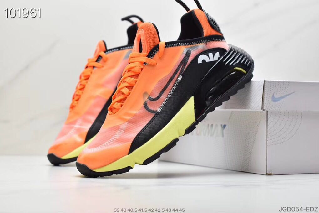 Nike Air Max Vapormax 2090 Flyknit Orange Black Yellow Shoes