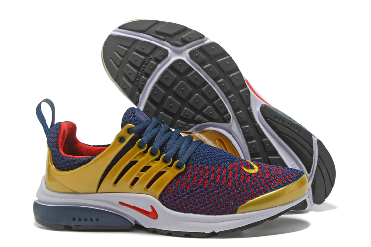 Nike Air Presto Flyknit Ultra Low Deep Blue Red Gold Shoes