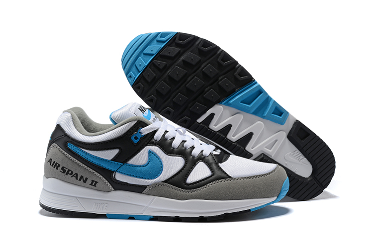 Nike Air Span II Black Grey Blue Shoes