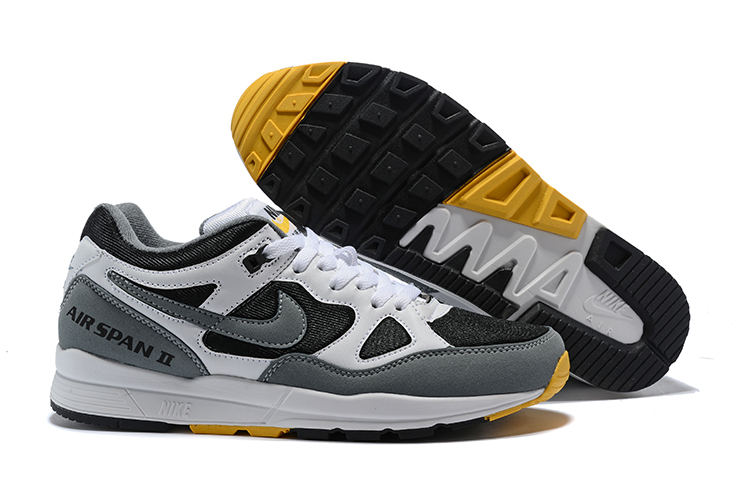 Nike Air Span II Black Grey Yellow Shoes