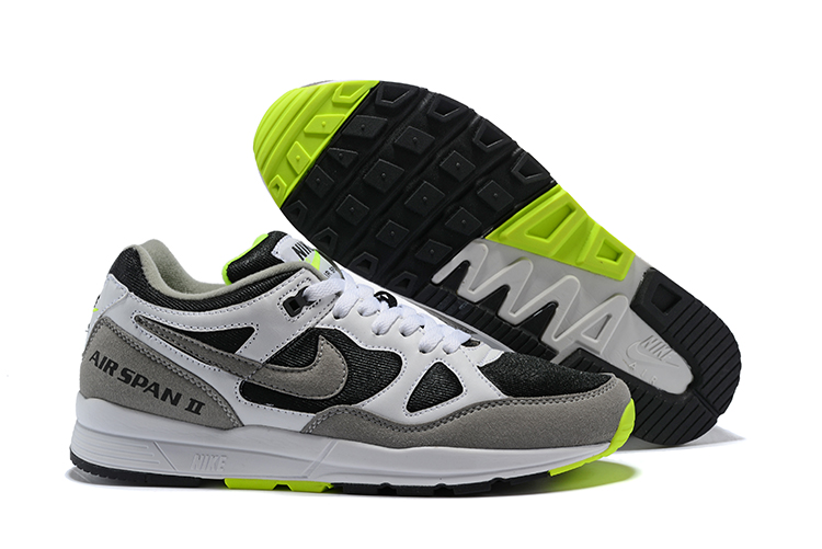 Nike Air Span II White Black Grey Green Shoes