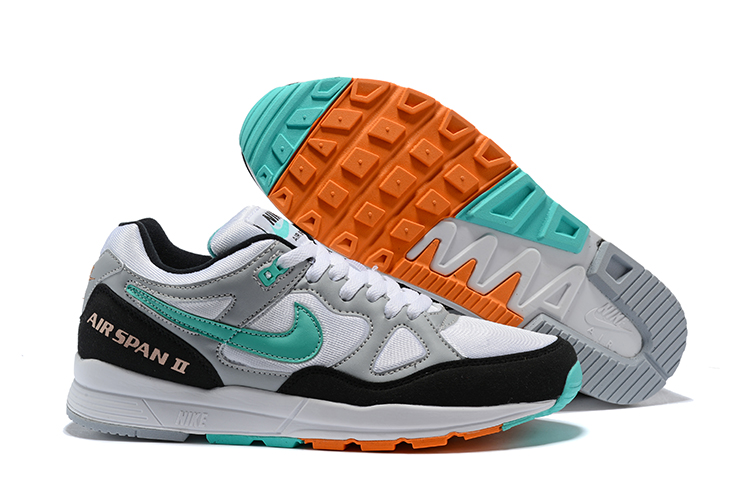 Nike Air Span II White Grey Jade Black Shoes