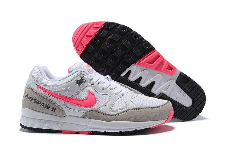 Nike Air Span II White Grey Red Shoes
