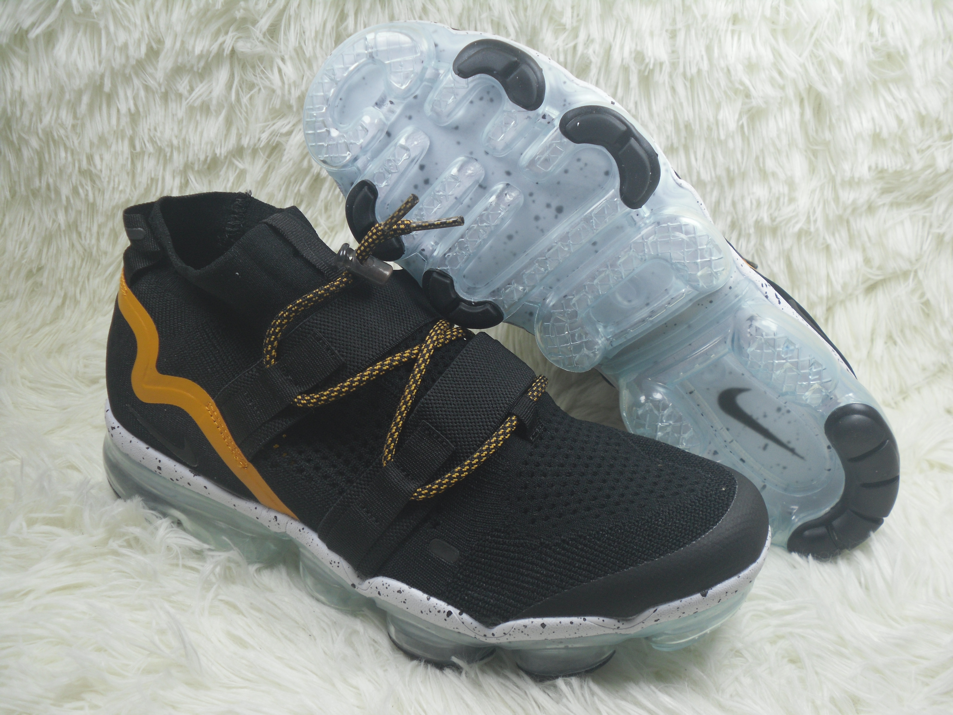 Nike Air VaporMax FK Utility Black Yellow Shoes