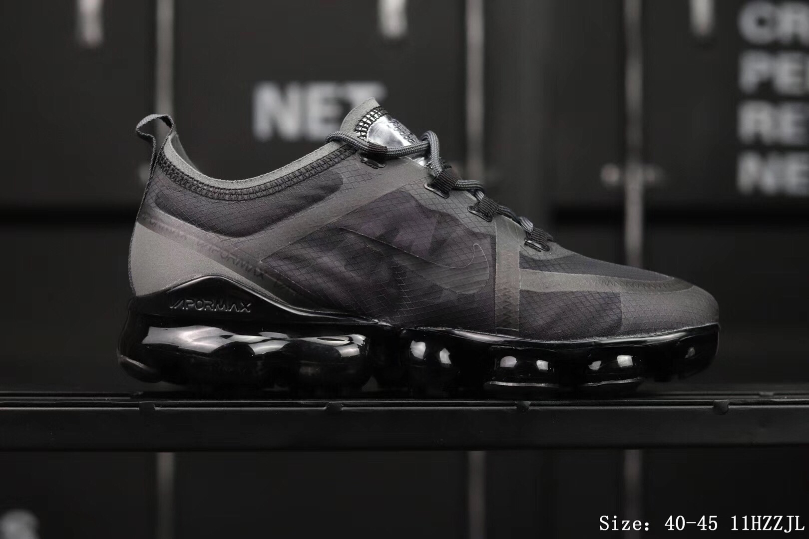 Nike Air Vapormax 2019 Mesh All Black Shoes For Women