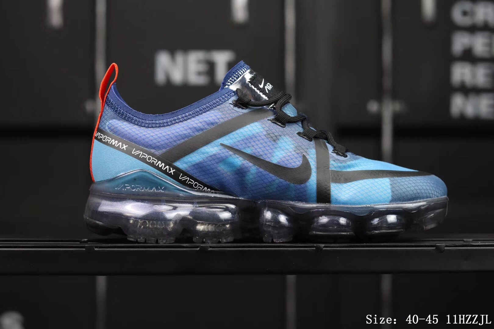 Nike Air Vapormax 2019 Mesh Blue Black Shoes For Women