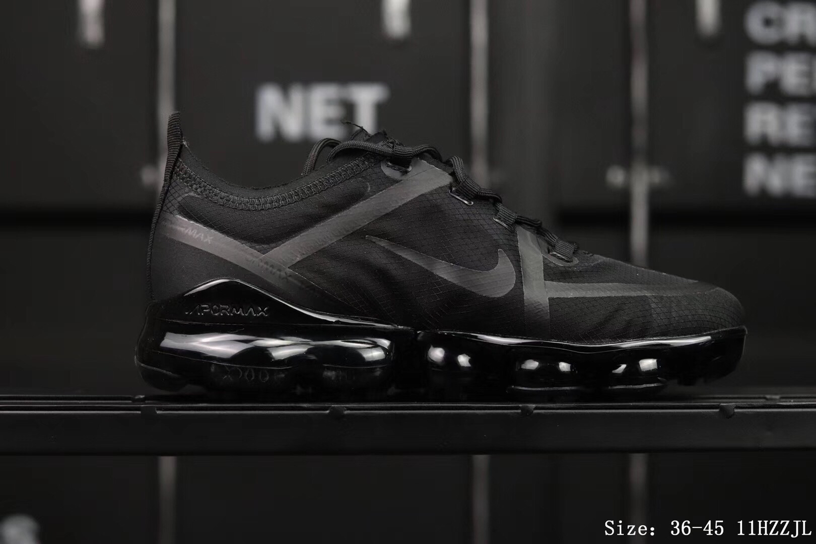 Nike Air Vapormax 2019 Mesh Cool Black Shoes For Women
