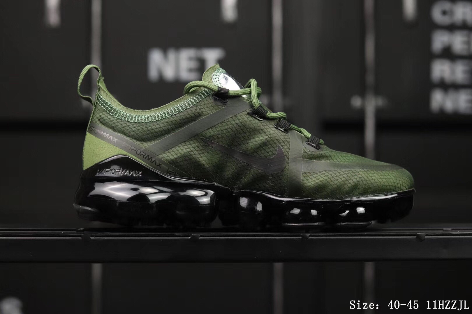 Nike Air Vapormax 2019 Mesh Green Black Shoes For Women