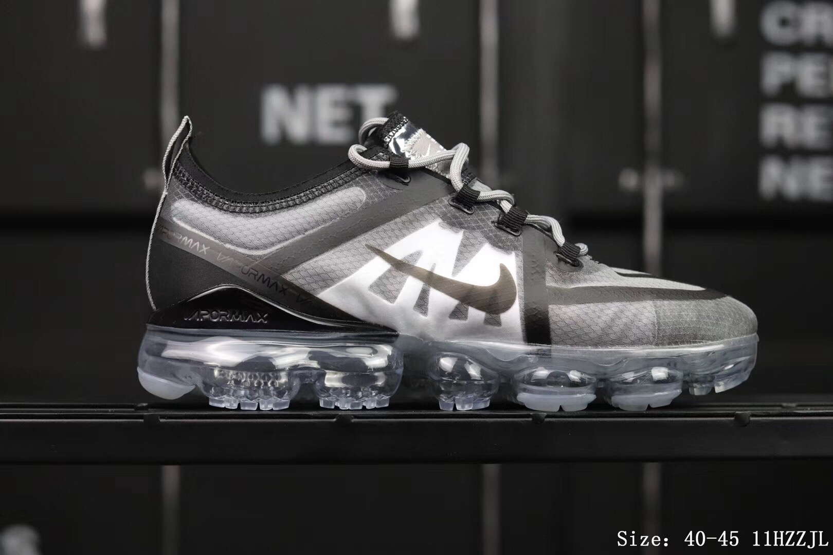 Nike Air Vapormax 2019 Mesh Grey Black Shoes For Women