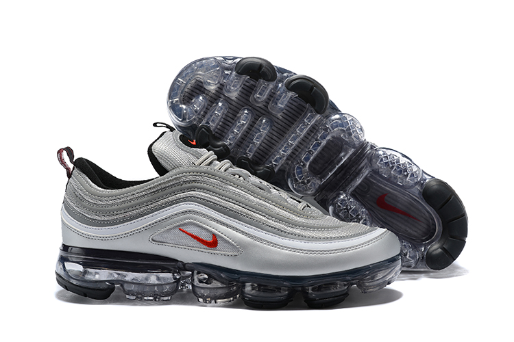 Women Nike Air Vapormax 97 Grey Black Red Shoes