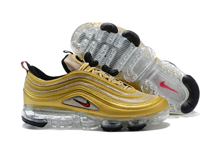 Women Nike Air Vapormax 97 Yellow Grey Shoes