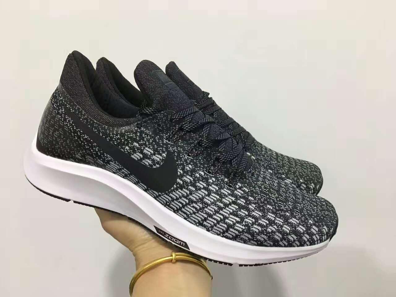 d4cbeb4ff01b3 Nike Air Zoom Pegasus 35 Flyknit Silver Black Shoes  18running22801 ...