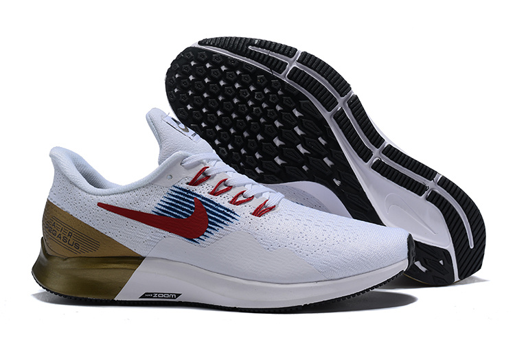 Nike Air Zoom Pegasus 35 White Red Gold Shoes