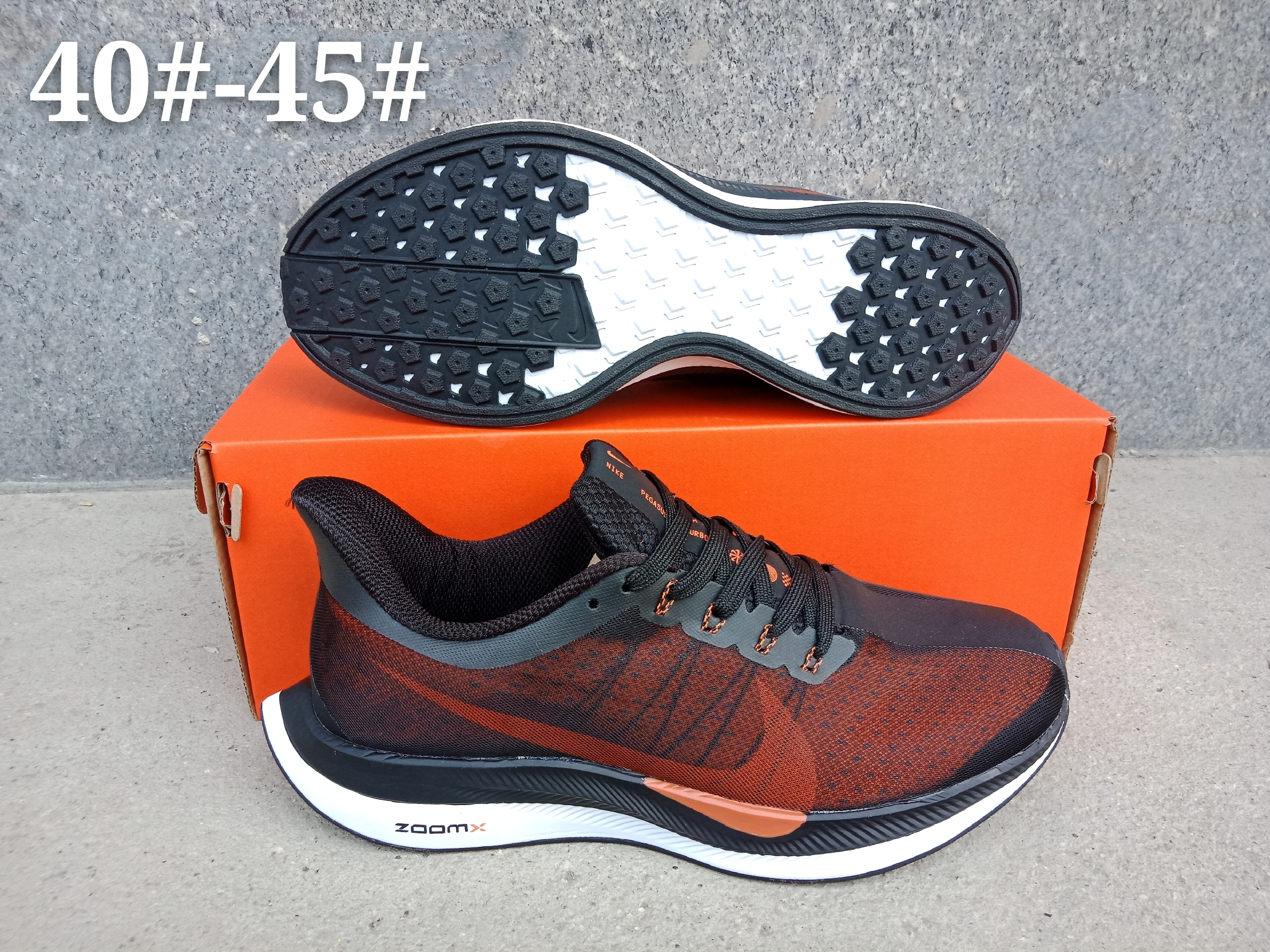 Women Nike Air Zoom Pegasus 35X Black Orange Shoes