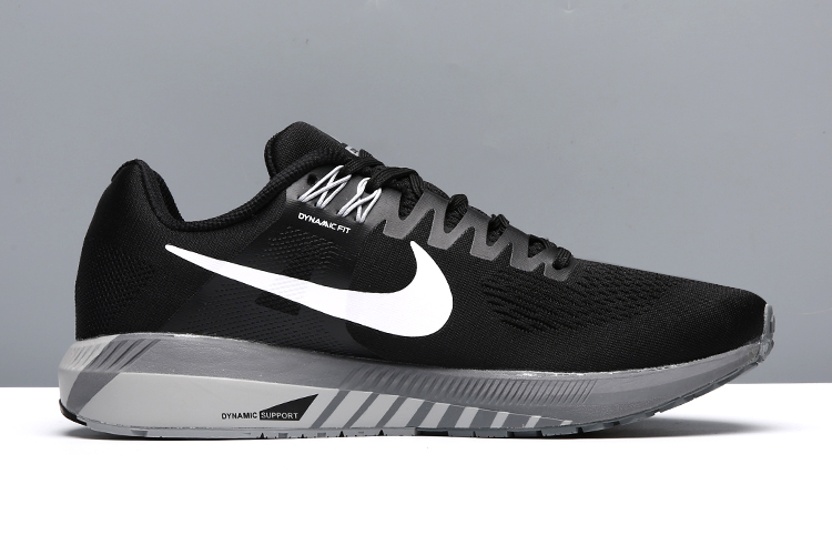 Nike Air Zoom StrucTure 21 Black White Shoes