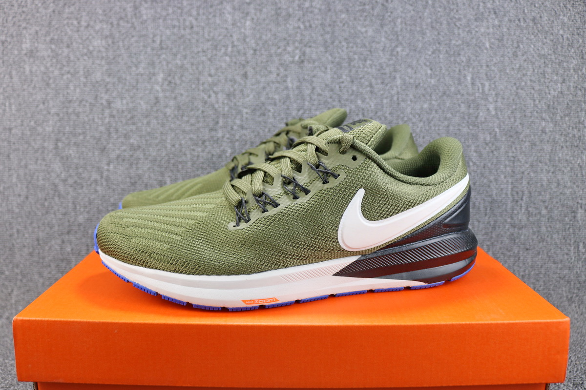 Nike Air Zoom Structure 22 Army Green White Shoes