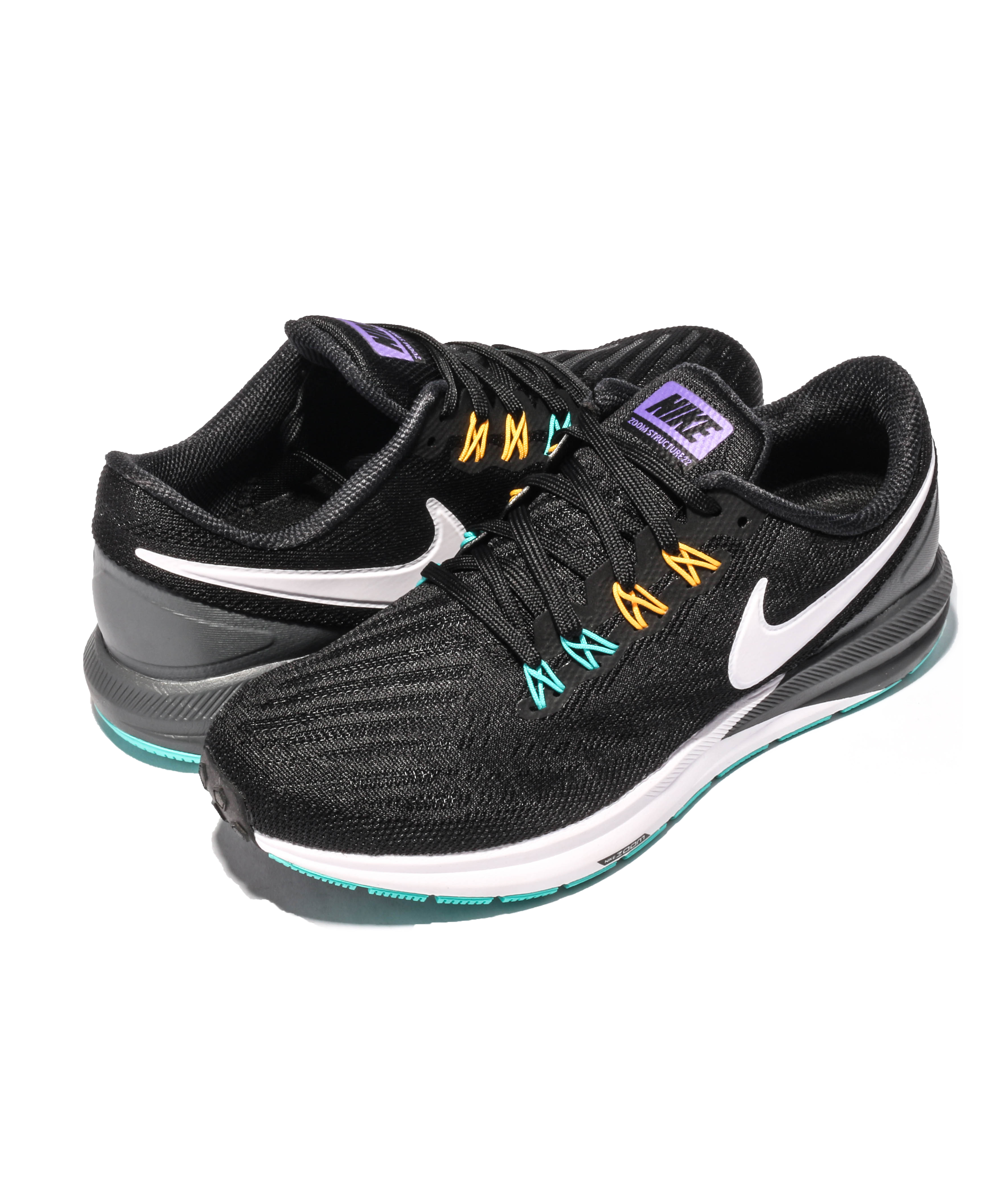 Nike Air Zoom Structure 22 Black Yellow Jade Shoes