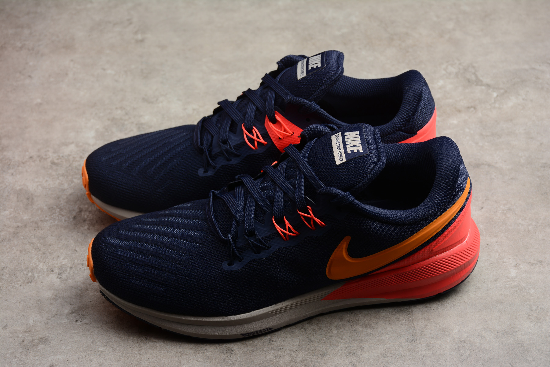 Nike Air Zoom Structure 22 Royal Blue Orange Shoes