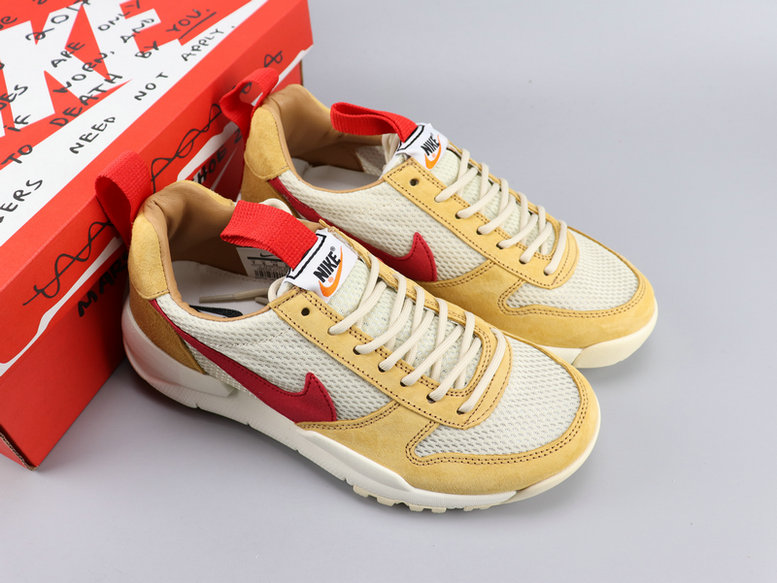 Nike Big Swoosh Yellow White Red Shoes