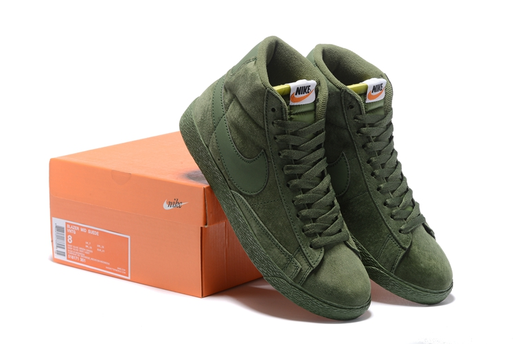 Nike Blazer Mid PRM VNTG All Army Green Shoes