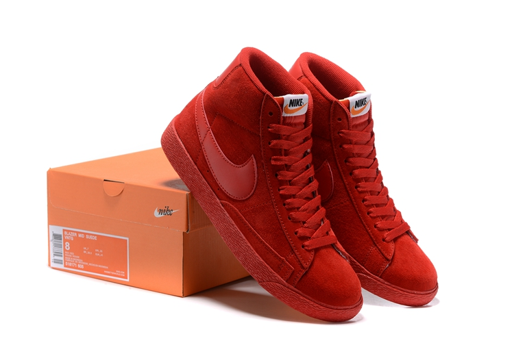 Nike Blazer Mid PRM VNTG All Red Shoes